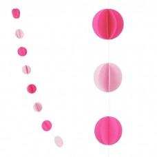 "Гирлянда ""Круги"" розовый"