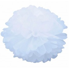 Бумажный помпон белый