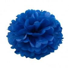 Бумажный помпон темно-синий