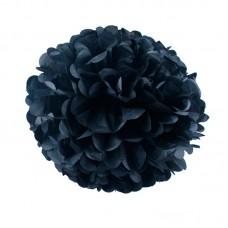 Бумажный помпон черный
