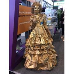"""Живая статуя""""Дама в золоте"""""""