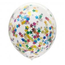 """Воздушные шары """"Конфетти"""" звезды ассорти"""