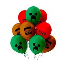 "Воздушные шары  ""Minecraft"""