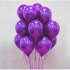 """Воздушные шары """"Стеклянные"""" фиолетовый"""