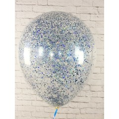 """Воздушные шары """"Конфетти"""" синий глиттер"""