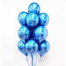 """Воздушные шары """"Стеклянные"""" синий"""