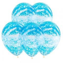 """Воздушные шары  """"Граффити голубой"""" кристалл"""