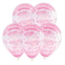 """Воздушные шары  """"Граффити розовый"""" кристалл"""