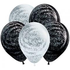 """Воздушные шары  """"Морозное Граффити"""" серебро"""