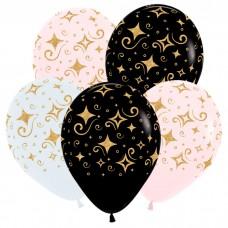 """Воздушные шары  """"Золотые бриллианты"""""""