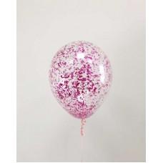 """Воздушные шары """"Конфетти-крошка"""" фуксия"""