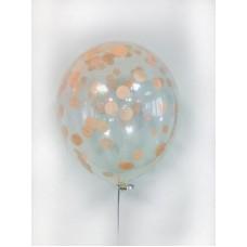 """Воздушные шары """"Конфетти"""" персик"""