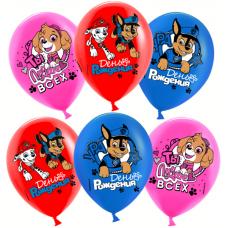 """Воздушные шары  """"С днем рождения"""" щенячий патруль"""