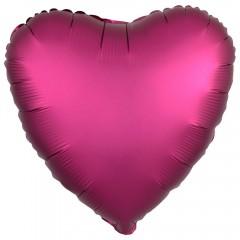 Сердце сатин гранат