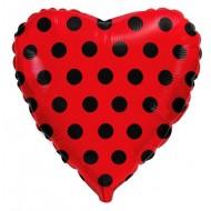 """Сердце """"Горох"""" красное"""