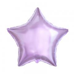 Звезда фольгированная лиловая