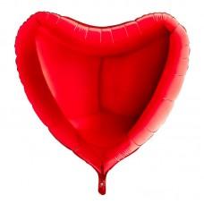 Сердце красное 90 см.