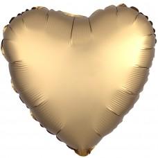 Сердце сатин золото