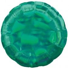 Круг зеленый перламутр
