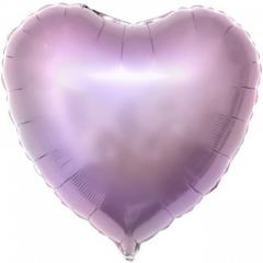 Сердце фольгированное лиловое