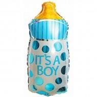"""Фольгированный шар """"Бутылочка"""" мальчик"""