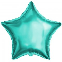 Звезда фольгированная бирюзовая