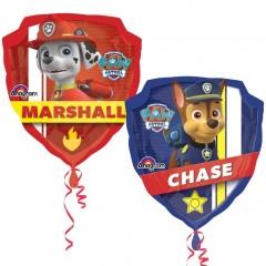 """Фольгированный шар """"Щенячий патруль"""" Чейз и Маршал"""