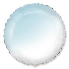 Круг бело-голубой градиент