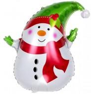 """Фольгированный шар """"Снеговик"""""""