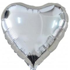 Сердце фольгированное серебро