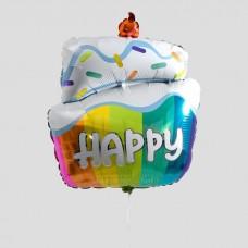 """Фольгированный шар """"Торт"""" Happy"""