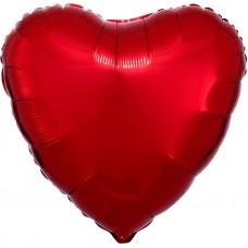 Сердце фольгированное красное 75 см.