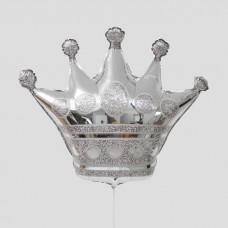 """Фольгированный шар """"Корона"""" серебро"""