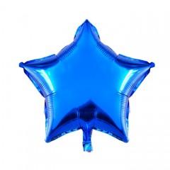 Звезда фольгированная синяя