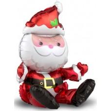 """Фольгированный шар """"Дед мороз"""" сидячий"""