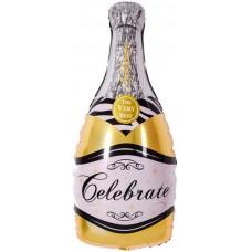 """Фольгированный шар """"Шампанское"""" золото"""