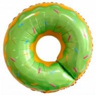 """Фольгированный шар """"Пончик"""" зеленый"""