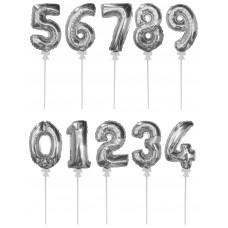 Цифра-топпер серебро