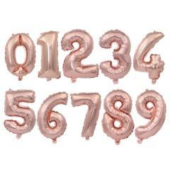 Цифра-топпер розовое золото
