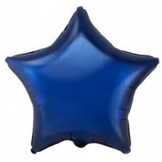 Звезда фольгированная темно-синяя 75 см.